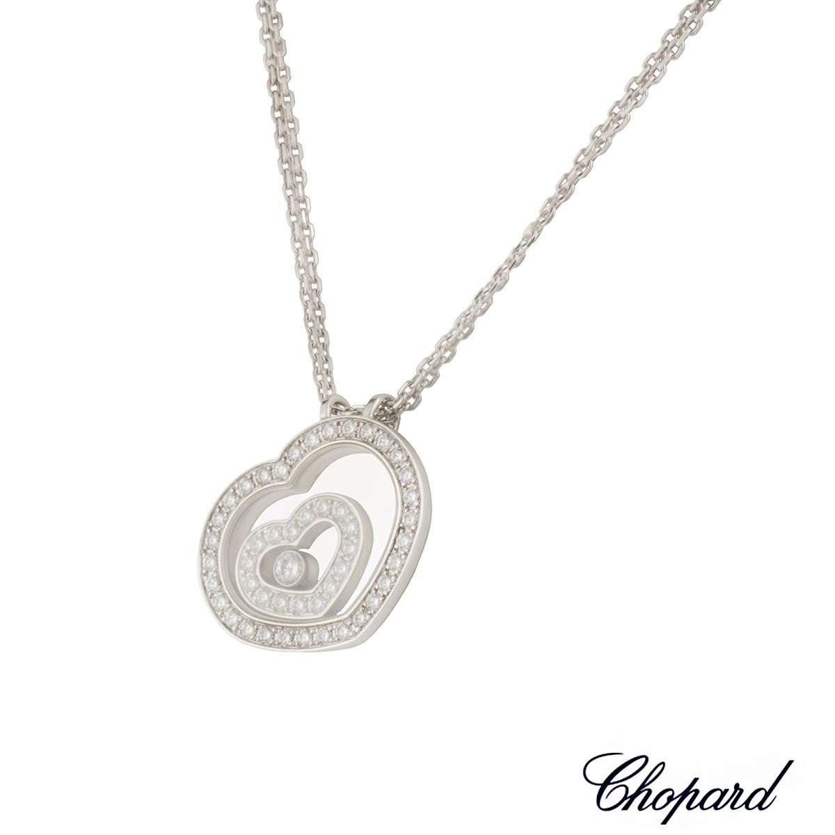 Chopard white gold happy spirit diamond pendant rich diamonds of chopard white gold happy spirit diamond pendant mozeypictures Choice Image